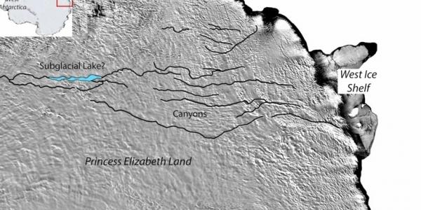 Τεράστιο φαράγγι εικάζεται ότι υπάρχει κάτω από τους πάγους της Ανταρκτικής