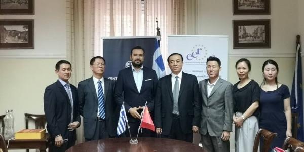 Στρατηγική συνεργασία της Περιφέρειας Κεντρικής Μακεδονίας με επαρχίες της Κίνας