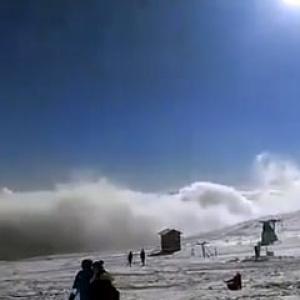 Διακοπή κυκλοφορίας προς το χιονοδρομικό κέντρο Βόρας