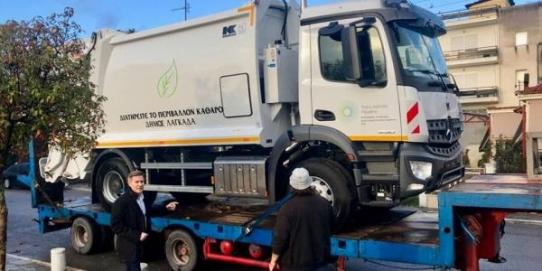 Με νέα απορριμματοφόρα εξοπλίστηκε ο Δήμος Λαγκαδά