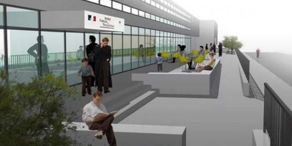 Η ανακαινισμένη είσοδος του Γαλλικού Ινστιτούτου