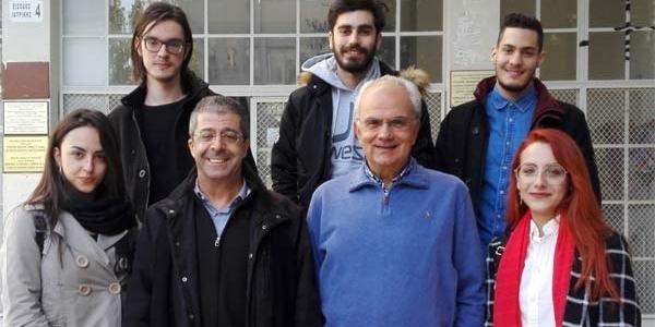 Υποδοχή της διακριθείσας ομάδας iGEM  από τον Κοσμήτορα της Σχολής Επιστημών Υγείας του ΑΠΘ