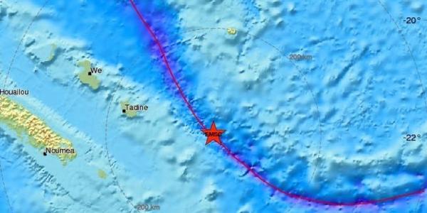 Μπαράζ σεισμών στη Νέα Καληδονία στον Ειρηνικό Ωκεανό