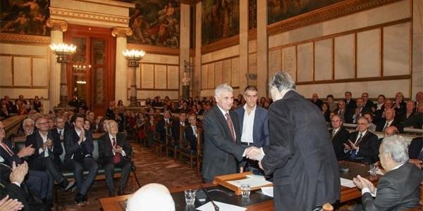 Η Ακαδημία Αθηνών βράβευσε τον Βασίλειο Μέλφο