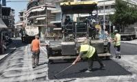 Εργασίες ανακατασκευής και ασφαλτόστρωσης της λεωφόρου Ανδρέα Παπανδρέου