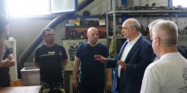 Επίσκεψη Μπόλαρη στην Υπηρεσία Καθαριότητας του Δήμου Θεσσαλονίκης και τον Σ.Μ.Α.