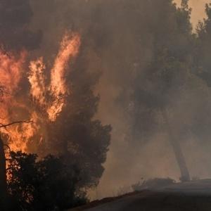 Συνεχίζει να καίει η φωτιά στην  Εύβοια