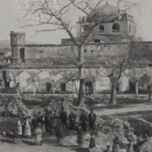 Φωτογραφία της Αγίας Σοφίας στη Θεσσαλονίκη πριν τη μεγάλη φωτιά του 1917