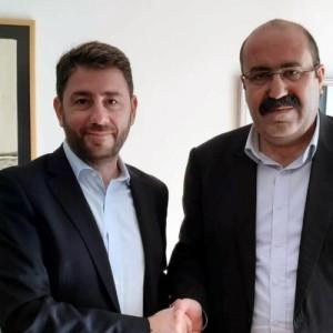Συνάντηση Νίκου Ανδρουλάκη με τον συν-Πρόεδρο του  PYD  των Κούρδων της Συρίας