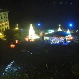 Άναψε το χριστουγεννιάτικο δέντρο στην πλατεία Αριστοτέλους