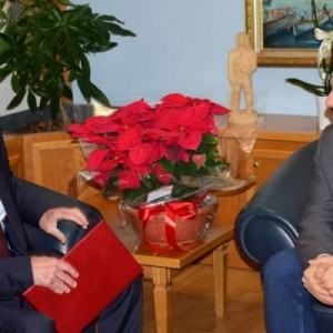 Εθιμοτυπική επίσκεψη του Ρώσου Προξένου στο Δήμο Καλαμαριάς