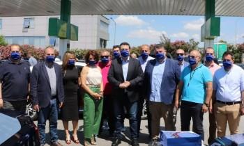 Είδη ατομικής προστασίας και υγιεινής στους οδηγούς ταξί της Θεσσαλονίκης