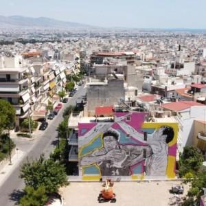 Τρεις μεγάλες τοιχογραφίες από τον καλλιτέχνη Same84 και την UrbanAct