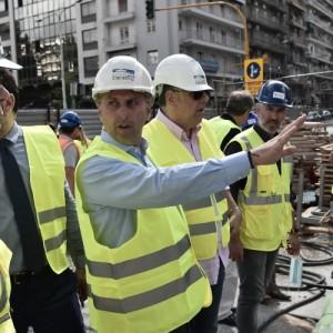 Ο Γενικός Γραμματέας Υποδομών στους υπό κατασκευή σταθμούς του Μετρό Θεσσαλονίκης