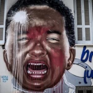 Βανδάλισαν και το γκράφιτι του Τζορτζ Φλόιντ στο Μεταξουργείο
