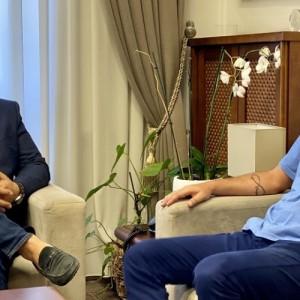 Συνάντηση  Τζιτζικώστα με τον νέο Πρόεδρο του Εργατοϋπαλληλικού Κέντρου Θεσσαλονίκης