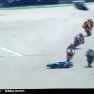 Σφοδρή σύγκρουση  στον αγώνα για το moto 2 στην Αυστρία