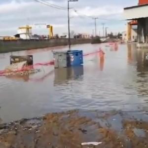 Πλημμύρησε ο δρόμος για την Λαχαναγορά