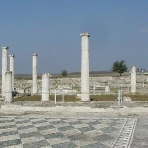 Κτίριο υποδοχής και πληροφόρησης  επισκεπτών στον αρχαιολογικό χώρο του ανακτόρου της Αρχαίας Πέλλας
