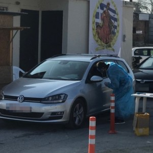 Κατερίνη: Τεστ covid με τη μέθοδο drive through στην Ανδρομάχη