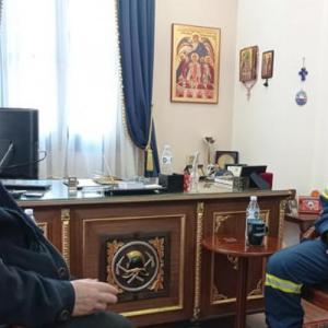 Εθιμοτυπική επίσκεψη του δημάρχου Σίμου Δανιηλίδη στη νέα ηγεσία της Πυροσβεστικής Υπηρεσίας