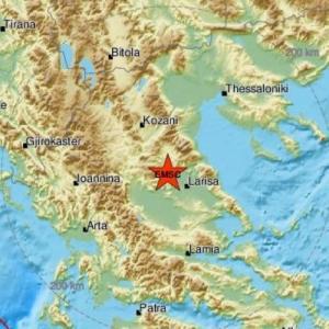 Νέος ισχυρός σεισμός κοντά στην Ελασσόνα - αισθητός στη Θεσσαλονίκη