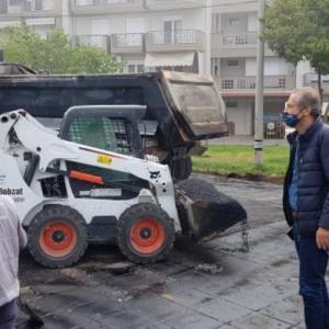 Βέροια: Σε εξέλιξη εργασίες ανακατασκευής γηπέδων μπάσκετ στη Βίλα Βικέλα