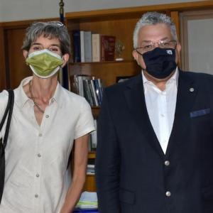 Συνάντηση του Πρύτανη του ΑΠΘ με την Πρέσβειρα της Μεγάλης Βρετανίας στην Αθήνα