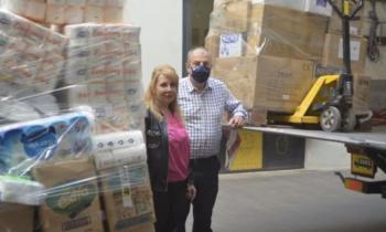 Αποστολή ειδών πρώτης ανάγκης για τους σεισμόπληκτους της Κρήτης
