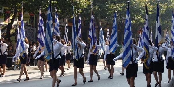Με την μαθητική παρέλαση συνεχίζονται οι εκδηλώσεις των ημερών στη Θεσσαλονίκη