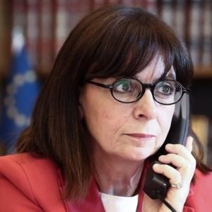 Τηλεφώνημα συμπαράστασης της Προέδρου της Δημοκρατίας με τους Διοικητές  νοσοκομείων της Θεσσαλονίκης