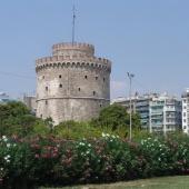 Ο χώρος του Λευκού Πύργου πριν την ανάπλαση επί δημαρχίας Παπαγεωργόπουλου © goTHESS.gr