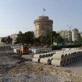 Εργασίες ανάπλασης στον περιβάλλοντα χώρο του Λευκού Πύργου © goTHESS.gr