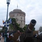 Από τις εκδηλώσεις για τα 100 χρόνια ελεύθερης Θεσσαλονίκης - Κανόνι © goTHESS.gr