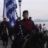 Από τις εκδηλώσεις για τα 100 χρόνια ελεύθερης Θεσσαλονίκης - Ιππείς στη Λεωφόρο Νίκης © goTHESS.gr