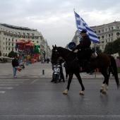 Από τις εκδηλώσεις για τα 100 χρόνια ελεύθερης Θεσσαλονίκης - Ιππείς στην Αριστοτέλους © goTHESS.gr