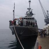 Από τις εκδηλώσεις για τα 100 χρόνια ελεύθερης Θεσσαλονίκης - Πολεμικό σκάφος στο λιμάνι © goTHESS.gr